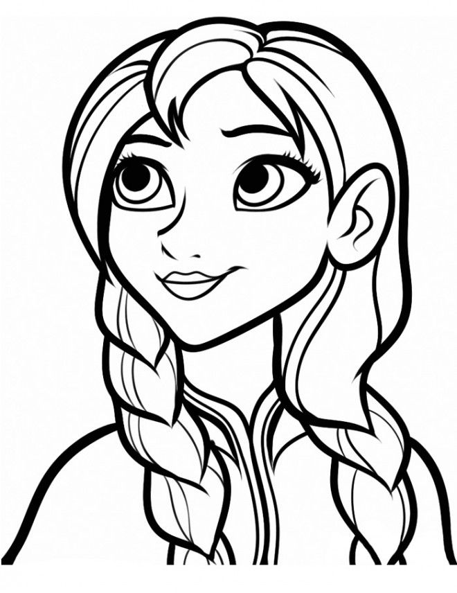 Coloriage Reine Des Neiges Simple.Coloriage Reine Des Neiges Anna Simple Dessin Gratuit A Imprimer