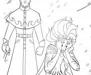 Coloriage Reine des Neiges Elsa vulnérable