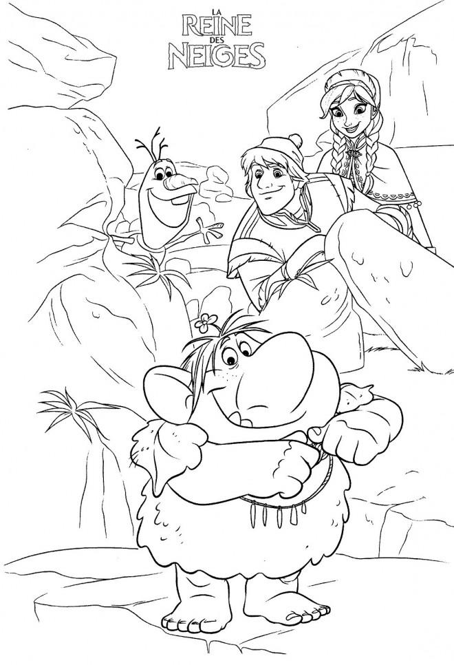 Coloriage et dessins gratuits Reine des Neiges en aventure à imprimer
