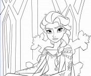 Coloriage et dessins gratuit Reine des Neiges en colère à imprimer