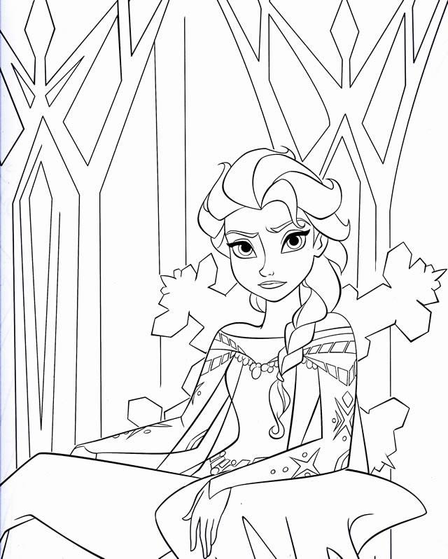 Coloriage et dessins gratuits Reine des Neiges en colère à imprimer