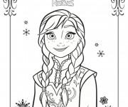 Coloriage et dessins gratuit Reine des Neiges en couleur à imprimer
