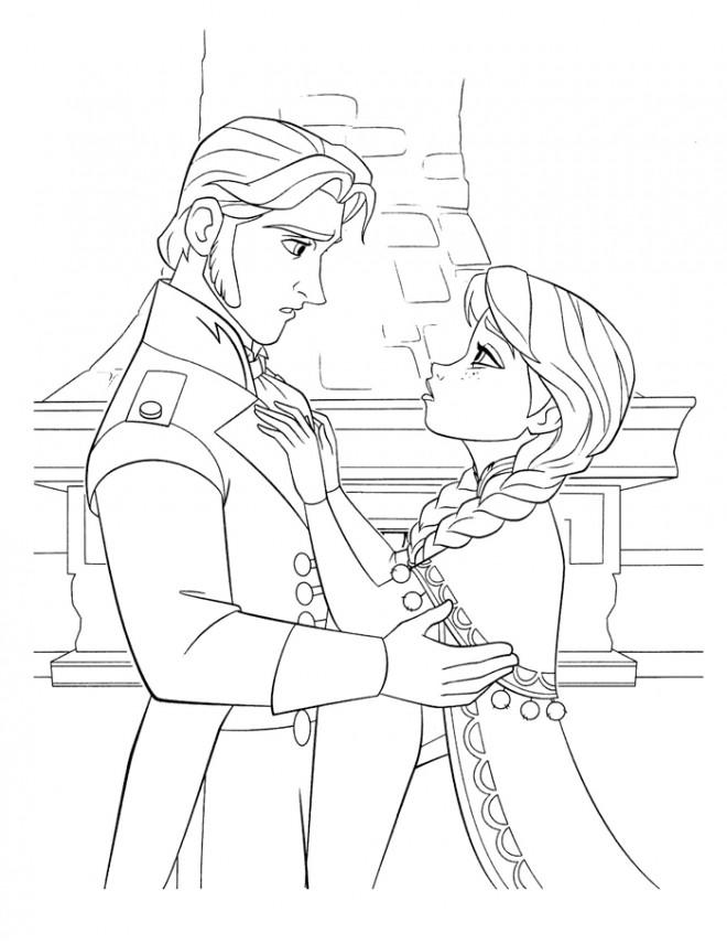 Coloriage et dessins gratuits Reine des Neiges en ligne gratuit à imprimer