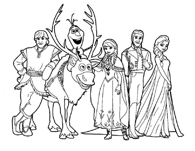 Coloriage et dessins gratuits Reine des Neiges Film en Ligne à imprimer