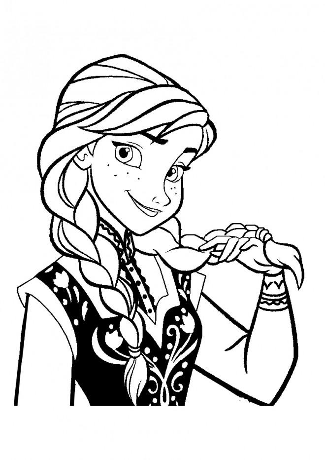 Coloriage et dessins gratuits Reine des Neiges heureuse à imprimer
