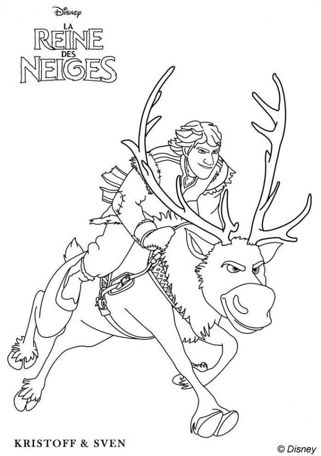 Coloriage et dessins gratuits Reine des Neiges le fort sven à imprimer