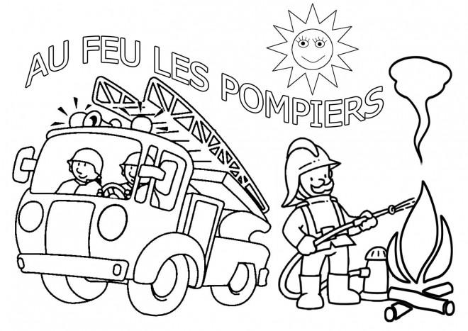 Coloriage et dessins gratuits Camion de Sam le Pompier à imprimer