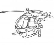 Coloriage Hélicoptère Sam