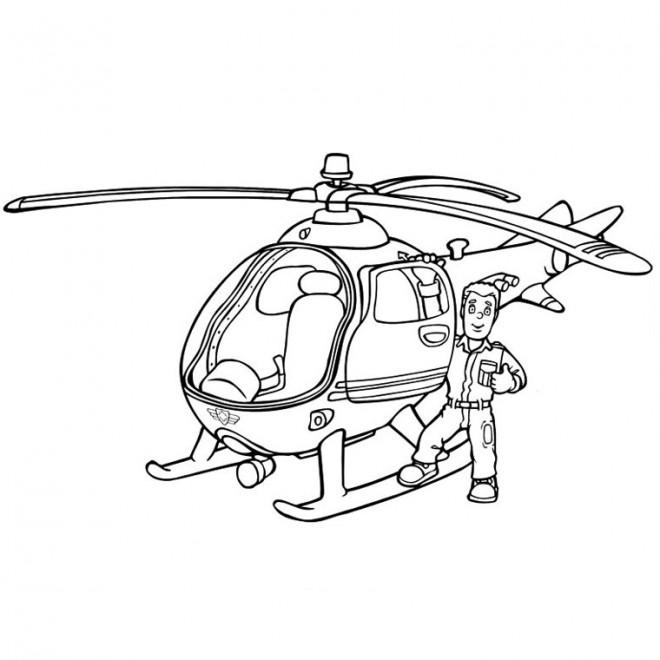 Coloriage Hélicoptère Sam Dessin Gratuit à Imprimer