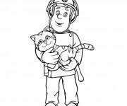 Coloriage et dessins gratuit Sam le Pompier 1 à imprimer
