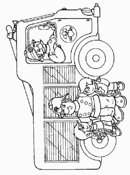 Coloriage et dessins gratuits Sam le Pompier 14 à imprimer