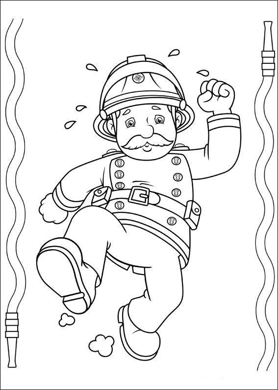 Coloriage et dessins gratuits Sam le Pompier 16 à imprimer