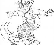 Coloriage et dessins gratuit Sam le Pompier 18 à imprimer