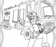 Coloriage Sam le Pompier 19