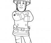 Coloriage Sam le Pompier 2