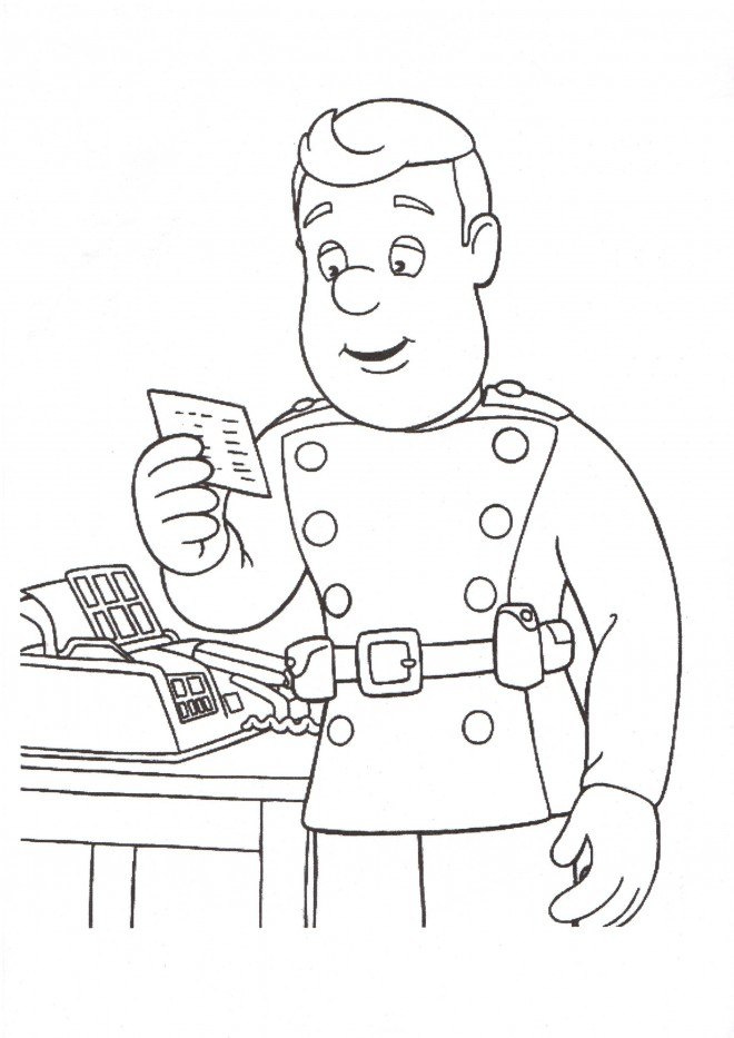 coloring book pages fireman - photo#8