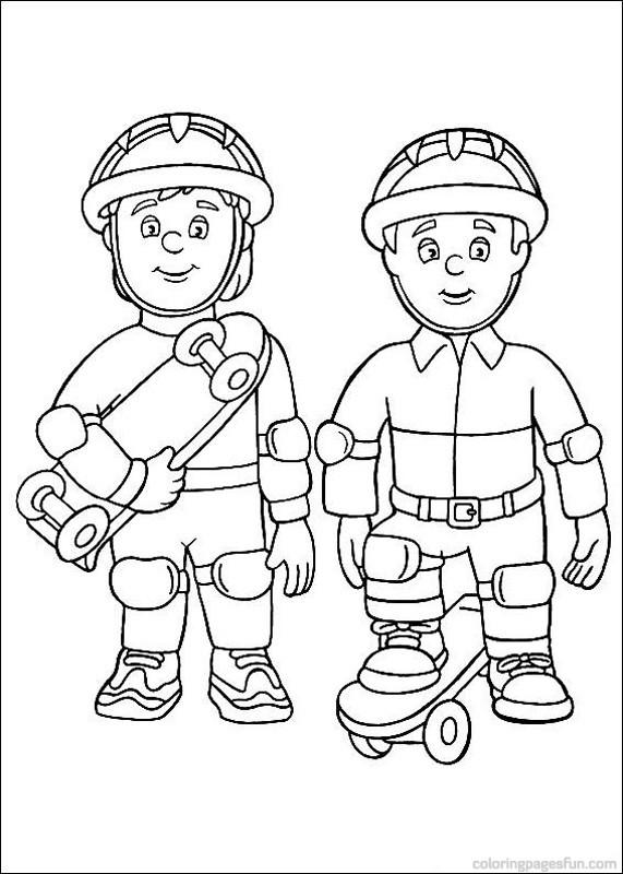 Coloriage et dessins gratuits Sam le Pompier 29 à imprimer