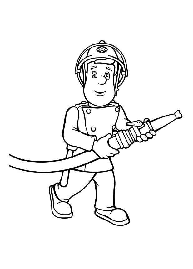Coloriage sam le pompier 3 dessin gratuit imprimer - Dessin pompier facile ...