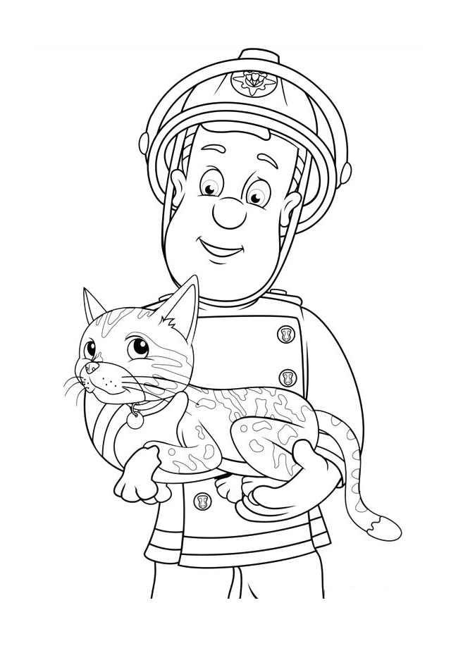 Coloriage sam le pompier 30 dessin gratuit imprimer - Coloriage de sam le pompier a imprimer ...