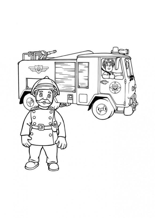 Coloriage et dessins gratuits Sam le Pompier 31 à imprimer