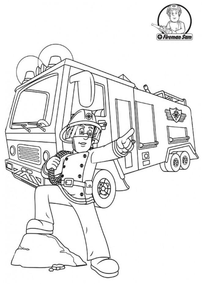 Coloriage sam le pompier 32 dessin gratuit imprimer - Coloriage de sam le pompier a imprimer ...