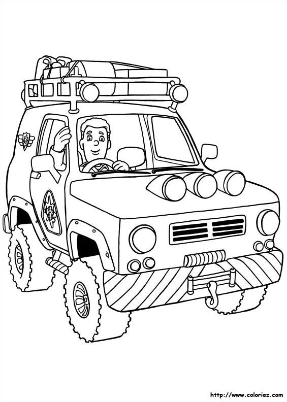 Coloriage et dessins gratuits Sam le Pompier 33 à imprimer