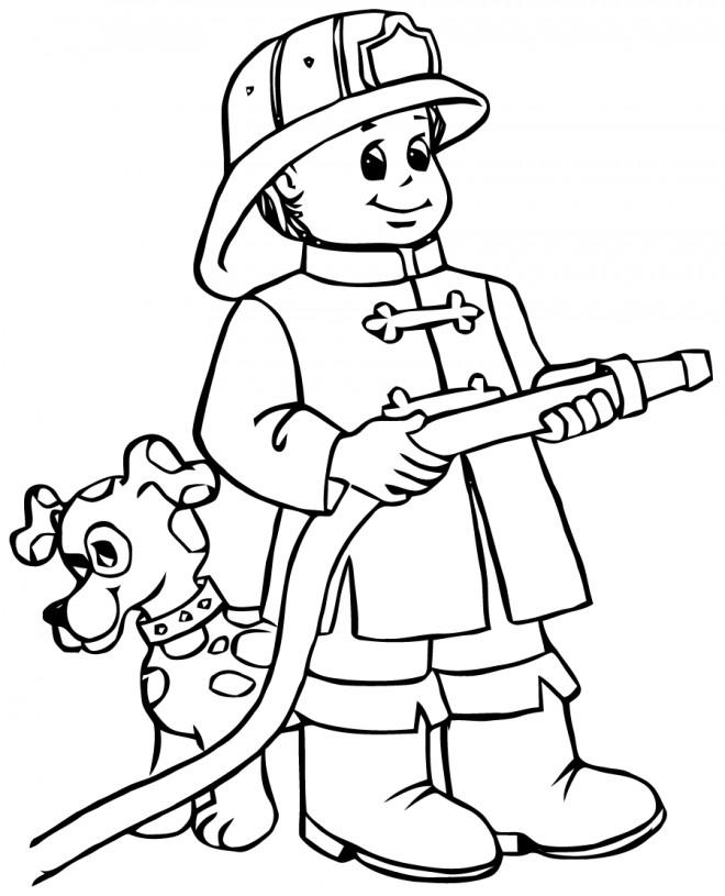 Coloriage et dessins gratuits Sam le Pompier 34 à imprimer