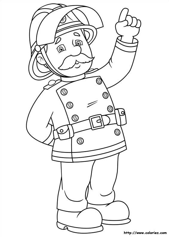 Coloriage et dessins gratuits Sam le Pompier 38 à imprimer