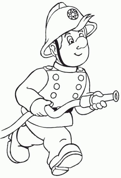 Coloriage et dessins gratuits Sam le Pompier 4 à imprimer