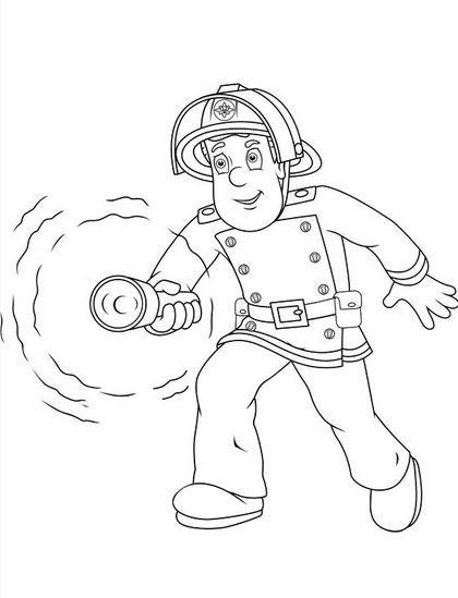 Coloriage et dessins gratuits Sam le Pompier 42 à imprimer