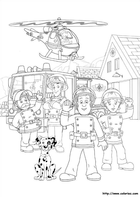Coloriage sam le pompier 45 dessin gratuit imprimer - Dessin de pompiers a imprimer ...