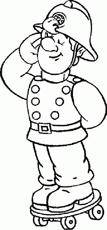 Coloriage et dessins gratuits Sam le Pompier 46 à imprimer