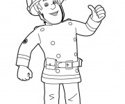 Coloriage Sam le Pompier 5
