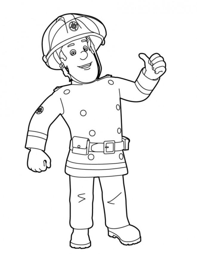 Coloriage et dessins gratuits Sam le Pompier 5 à imprimer
