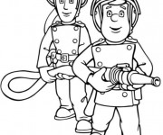 Coloriage Sam le Pompier 6
