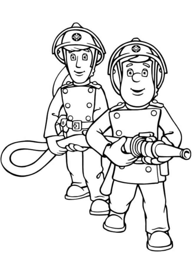 Coloriage Sam Le Pompier 6 Dessin Gratuit à Imprimer