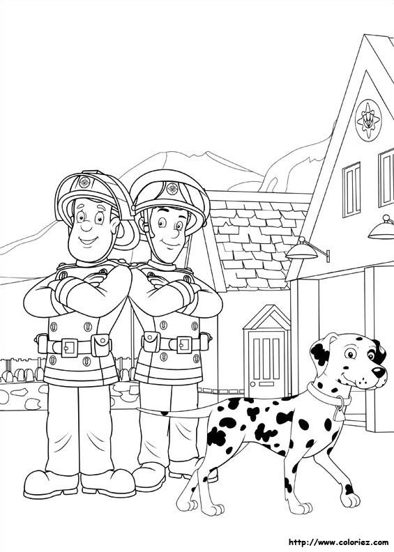Coloriage et dessins gratuits Sam le Pompier 7 à imprimer