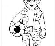 Coloriage Sam le Pompier 8