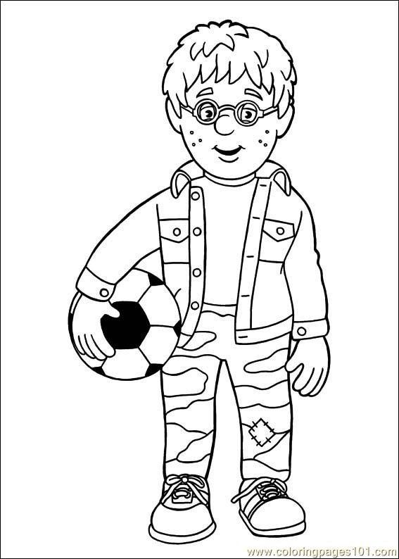 Coloriage sam le pompier 8 dessin gratuit imprimer - Coloriage de sam le pompier a imprimer ...