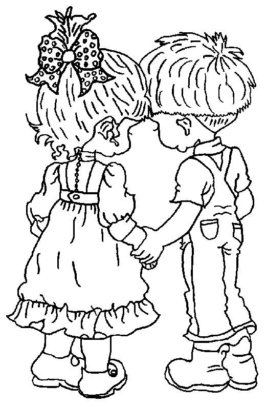 Coloriage et dessins gratuits Dessin à colorier Sarah Kay à imprimer
