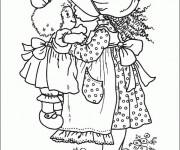 Coloriage et dessins gratuit Dessin Sarah Kay coloriage à imprimer