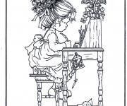 Coloriage et dessins gratuit Dessins de Sarah Kay à imprimer