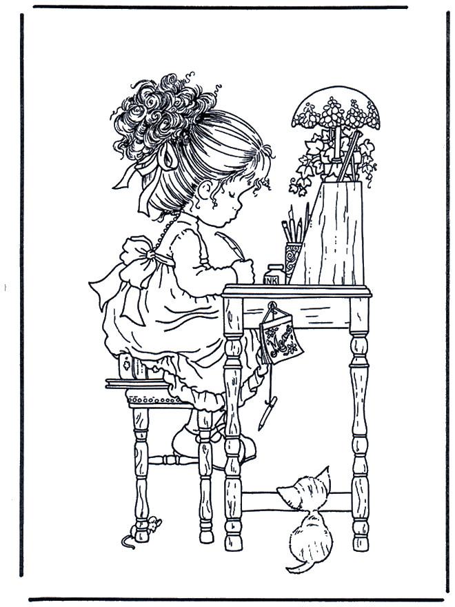 Coloriage et dessins gratuits Dessins de Sarah Kay à imprimer