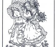 Coloriage Fond d'écran Sarah Kay