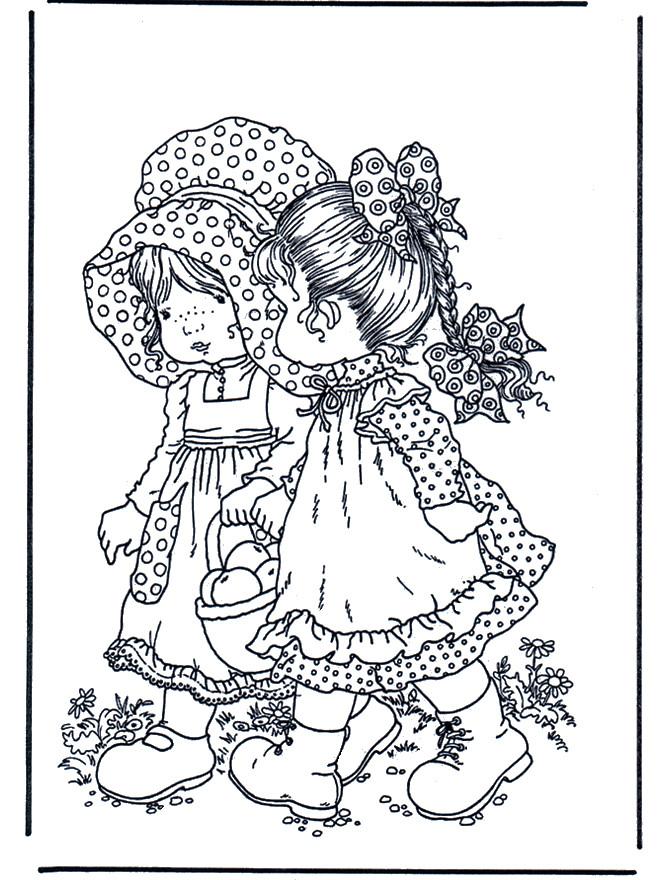 Coloriage et dessins gratuits Fond d'écran Sarah Kay à imprimer
