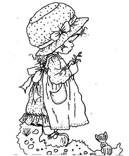 Coloriage et dessins gratuits Sarah Kay en jardin à imprimer