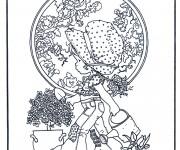 Coloriage et dessins gratuit Sarah Kay entrain de jardiner à imprimer