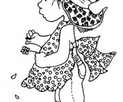 Coloriage et dessins gratuit Sarah Kay entrain de penser gratuit à imprimer