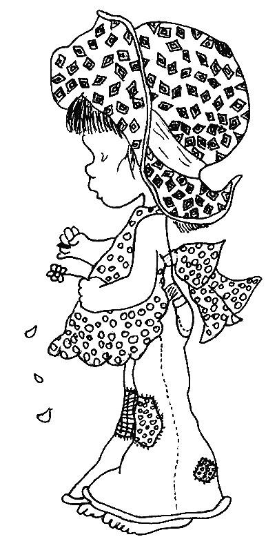 Coloriage et dessins gratuits Sarah Kay entrain de penser gratuit à imprimer