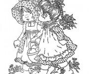 Coloriage Sarah Kay et son amie